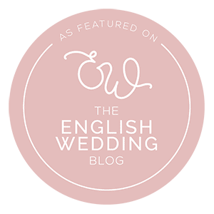 Badge for appearing on English Wedding blog
